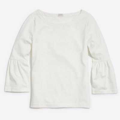 Bell-sleeve T-shirt factorywomen knits & t-shirts c