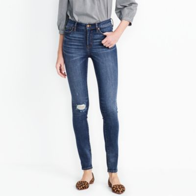 "Distressed nevada wash high-rise skinny jean with 29"" inseam"