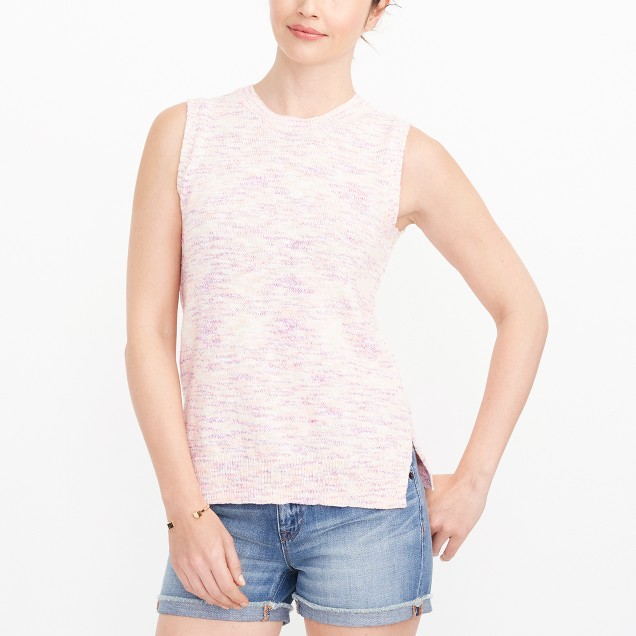 Space-dyed sweater-tank