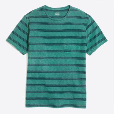 Garment-dyed asher striped T-shirt