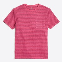 Garment-dyed fisher striped T-shirt