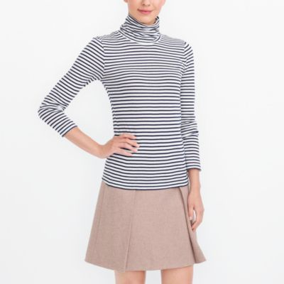 Striped tissue turtleneck factorywomen knits & t-shirts c