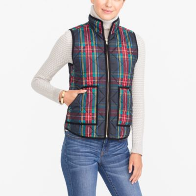Printed Quilted Puffer Vest Factorywomen Puffer Vests