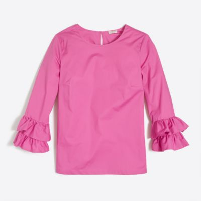 Double ruffle-sleeve top