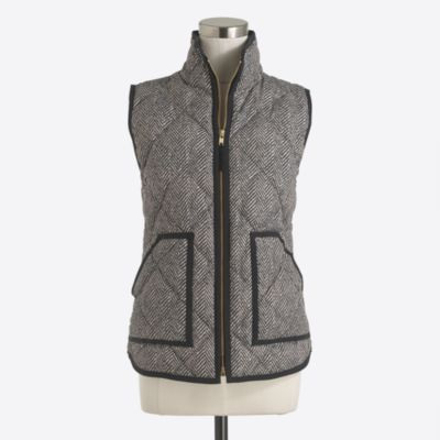 Printed quilted puffer vest   sale