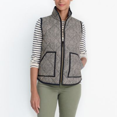Printed quilted puffer vest factorywomen extra-nice list deals c