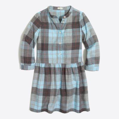 Girls' flannel shirtdress