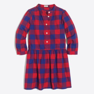 Girls' flannel shirtdress factorygirls dresses c
