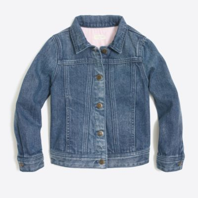Girls' denim jacket in dylan wash factorygirls sweaters & jackets c