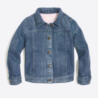 Girls' denim jacket in dylan wash factorygirls coats & jackets c