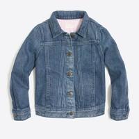 Girls' denim jacket in dylan wash