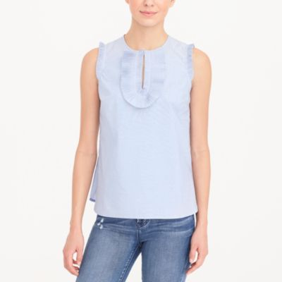 End-on-end ruffle-front tank top factorywomen new arrivals c