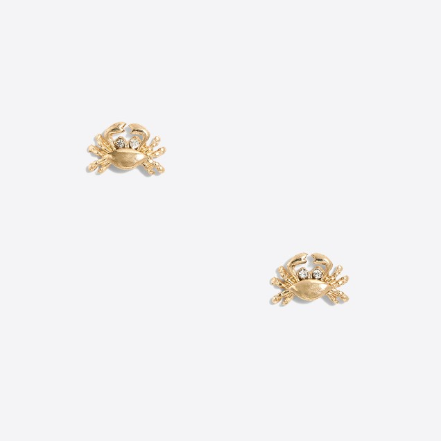 Crabby stud earrings