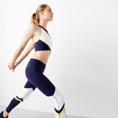 New Balance® for J.Crew performance crop top in striped colorblock