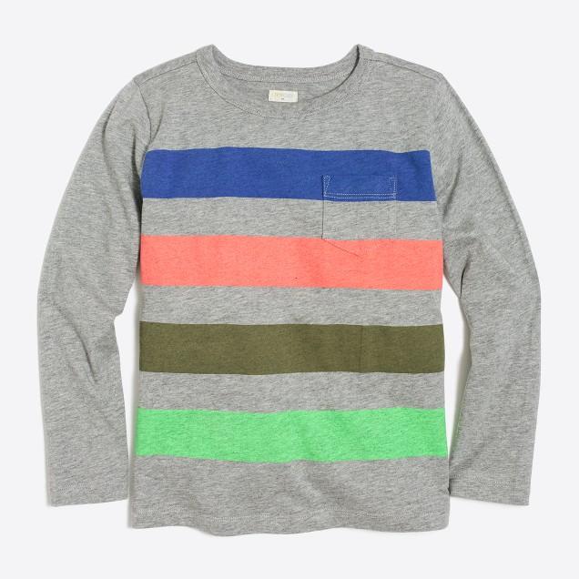 Boys 39 Long Sleeve Quad Striped T Shirt Factoryboys