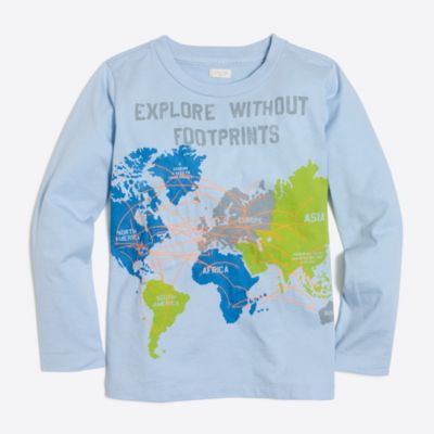 Boys' long-sleeve exploration storybook T-shirt