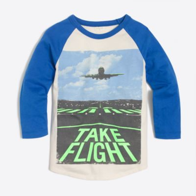 "Boys' raglan glow-in-the-dark ""take flight"" storybook T-shirt"