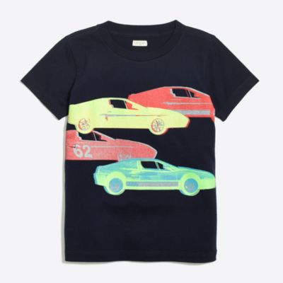 Boys' glow-in-the-dark cars storybook T-shirt