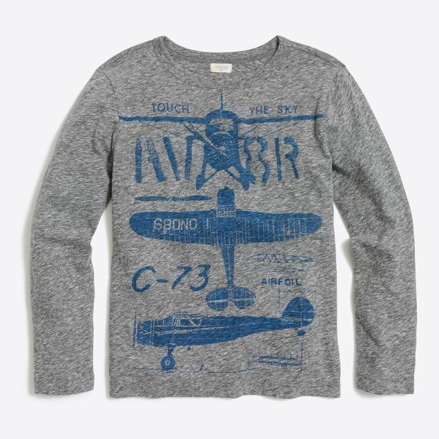 Boys' long-sleeve airplanes storybook T-shirt