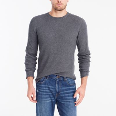 Long-sleeve thermal crewneck