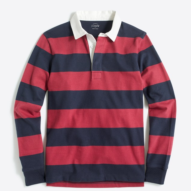 Long-sleeve rugby shirt in stripe
