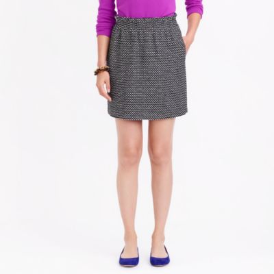 Sidewalk skirt in printed jacquard