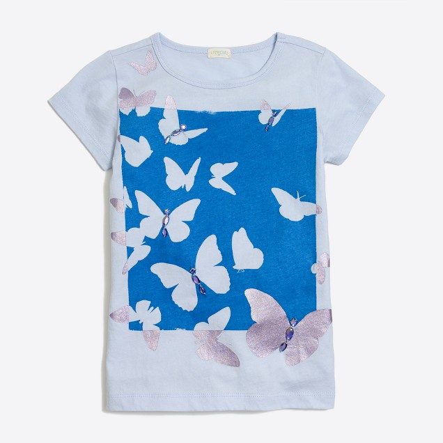 Girls' butterflies keepsake T-shirt