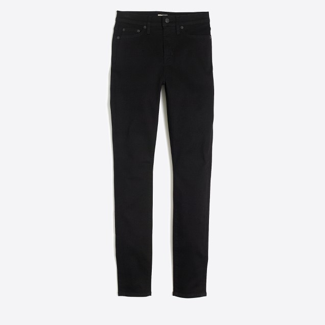 "Black high-rise skinny jean with 29"" inseam"