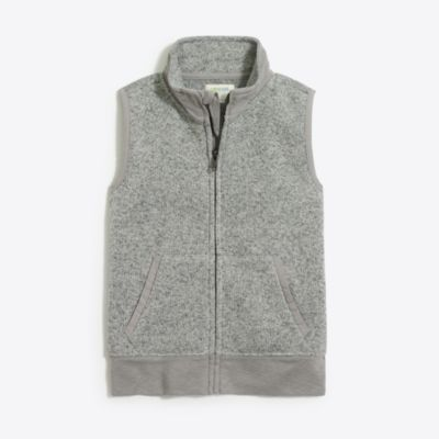 Boys' sweater-fleece vest
