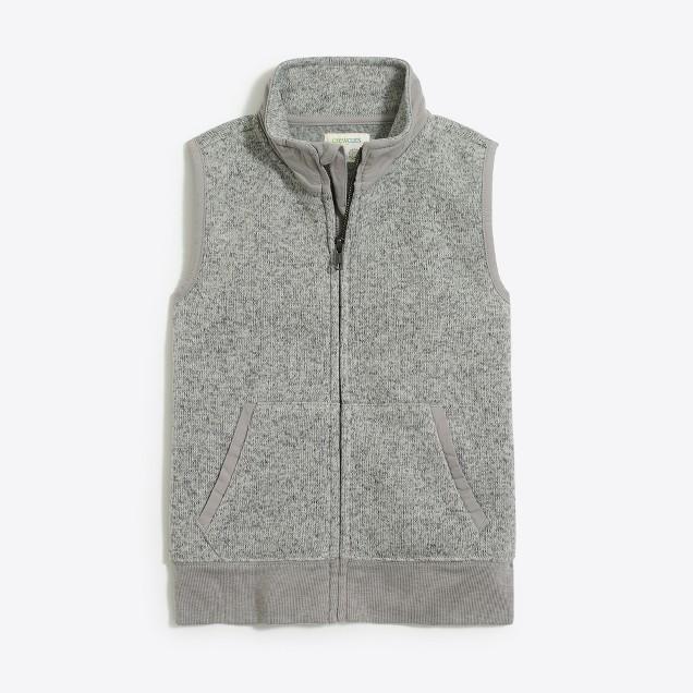Boys' sweater-fleece vest