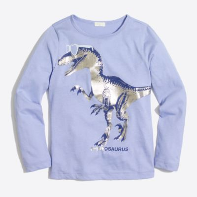 Girls' long-sleeve shineosaurus keepsake T-shirt