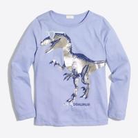 Girls' long-sleeve shineosaurus keepsake T-shirt