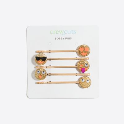 Girls' emoji bobby pin pack
