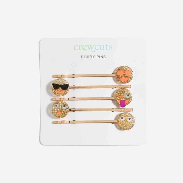 Girls' emoji bobby pin pack