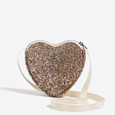 Girls' glitter heart bag factorygirls jewelry & accessories c