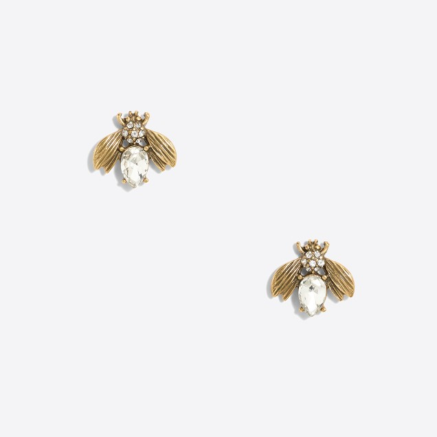 Queen bee crystal stud earrings
