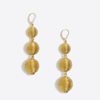 Triple lantern dangle earrings