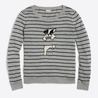 French bulldog striped Teddie sweater