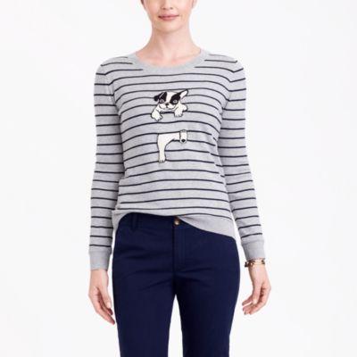 French bulldog striped Teddie sweater