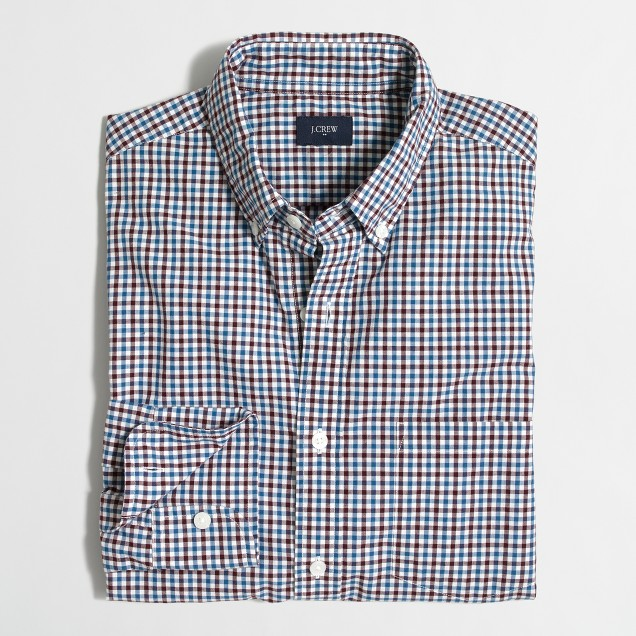 Washed shirt in tattersall