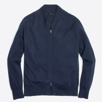 Harbor cotton full-zip cardigan sweater