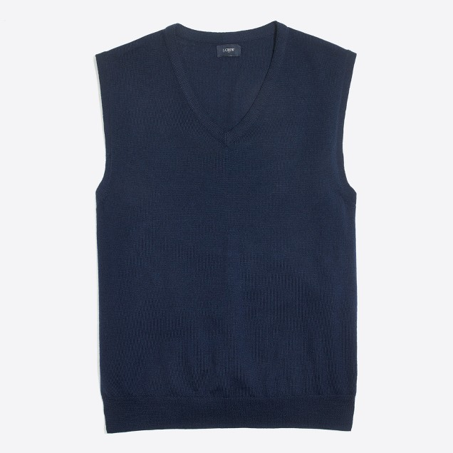Merino wool sweater-vest