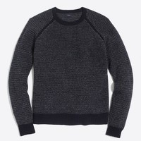 Textured lambswool crewneck sweater