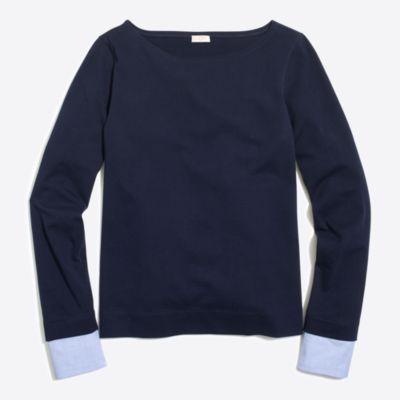 Cuffed boatneck shirt   search