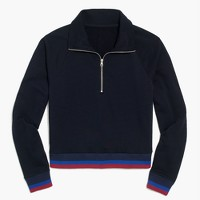Half-zip jacket in sport stripe