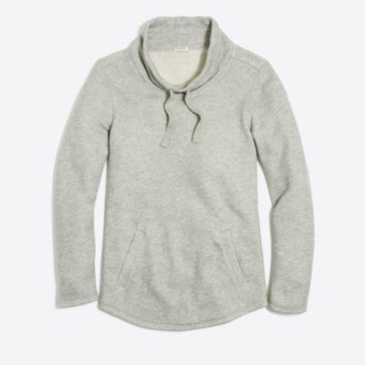 Waffle funnelneck sweatshirt factorywomen weekend collection c