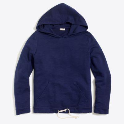 Tie-waist hooded sweatshirt