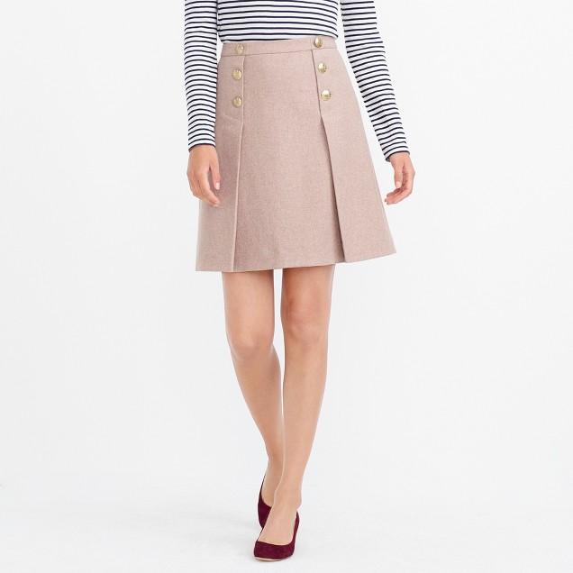 Mini skirt in double-serge wool