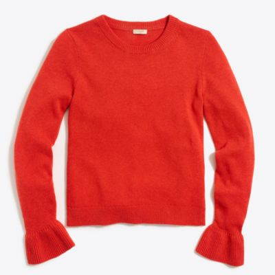 Ruffle-cuff sweater