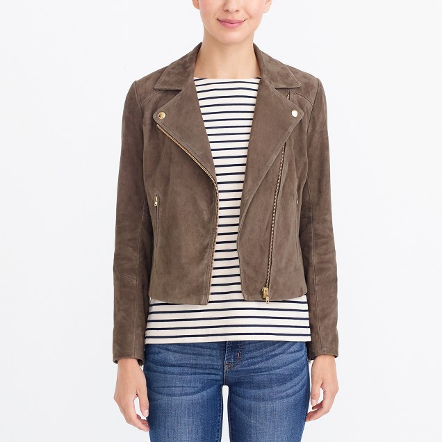 Suede motorcycle jacket